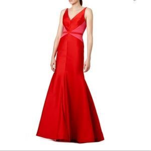 Designer ML Monique Lhuillier Red Dress 4